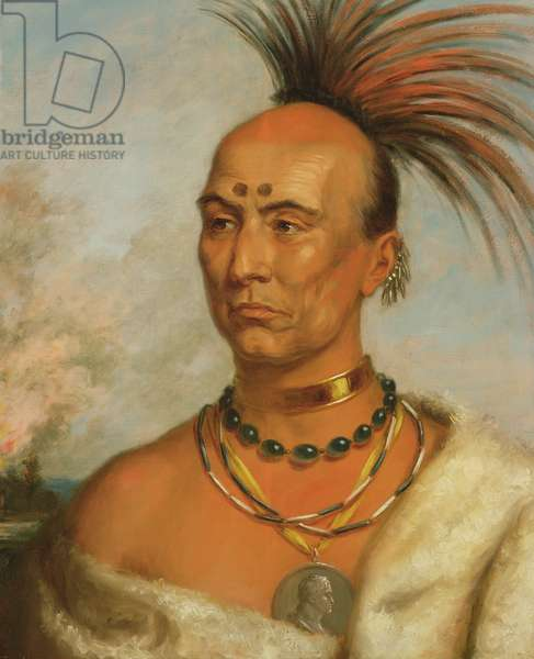 Makataimeshekiakiak (Black Hawk) c.1853 (oil on canvas)