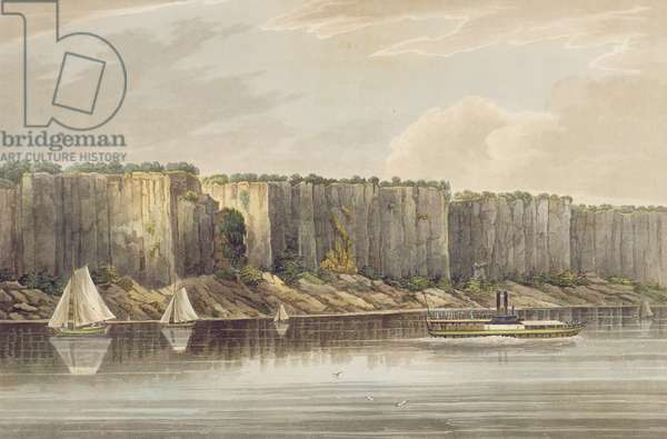 Palisades, no.19 of the Hudson River Portfolio, engraved by J. Hill, 1821-25 (coloured engraving)
