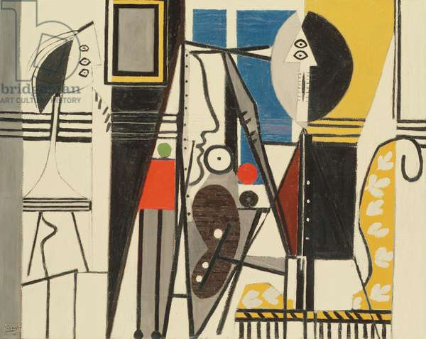 Painter and Model, 1928 (oil on canvas)