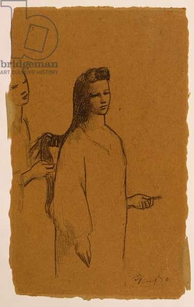 La Coiffure, 1905 (pen & ink on paper)