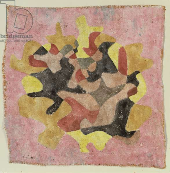Herbstblätter Straus, 1930 (watercolour on gesso-primed burlap)
