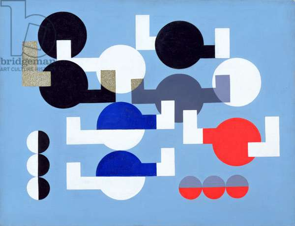 Composition of Circles and Overlapping Angles, 1930 (oil on canvas)