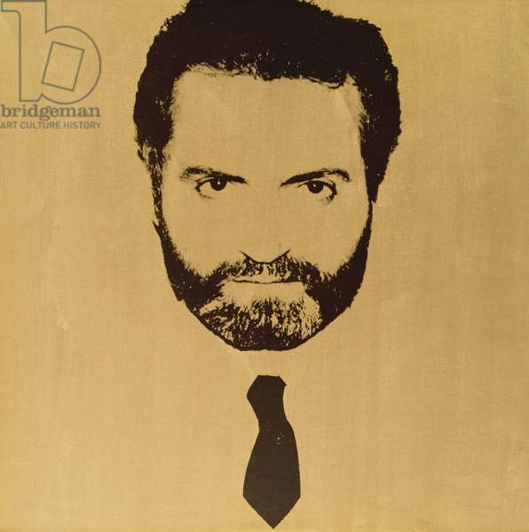 Gianni Versace, c.1980 (acrylic & silkscreen ink on canvas)