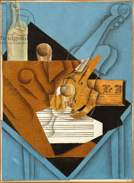 The musician's table, 1914 (collage)