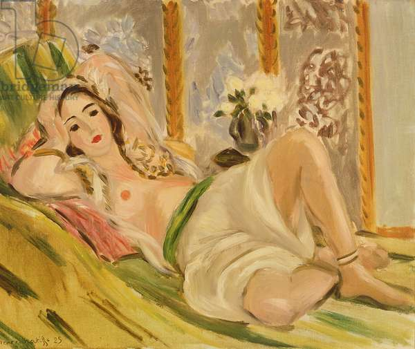 Odalisque with Magnolias, c.1920 (oil on canvas)