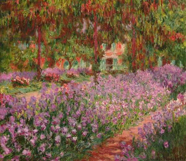 The Garden at Giverny, 1900 (oil on canvas)