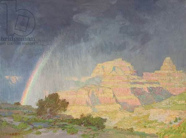 Grand Canyon, 1910 (oil on canvas)