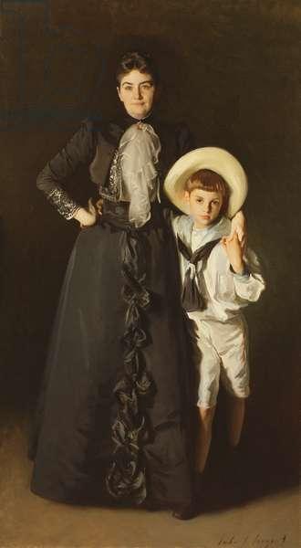 Portrait of Mrs. Edward L. Davis and her Son, Livingston Davis, 1890 (oil on canvas)