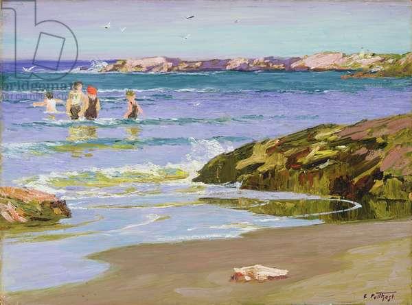 Low Tide, c.1915 (oil on board)