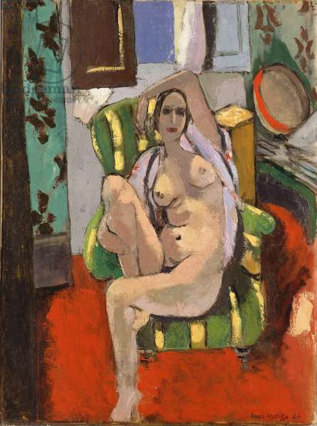 Odalisque with a Tambourine, Nice, place Charles-Félix, winter 1925-26 (oil on canvas)