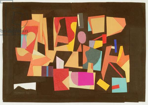 Paper Collage, 1939 (coloured paper mounted on paper)