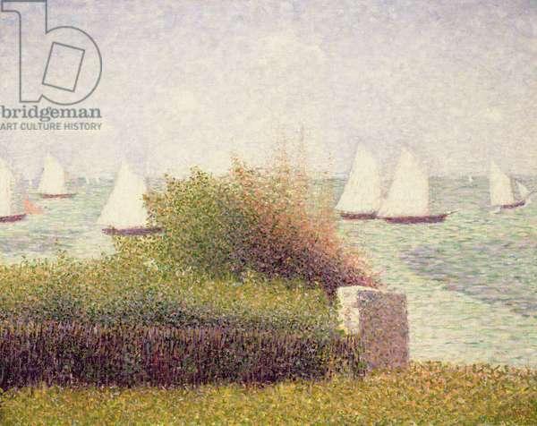 La Rade de Grandcamp', 1885 (oil on canvas)