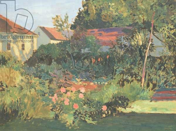 Late Summer Garden, 1984 (oil on panel)