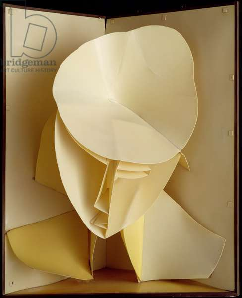 Head of a Woman c. 1917-20 (after a work of 1916) (celluloid and metal)