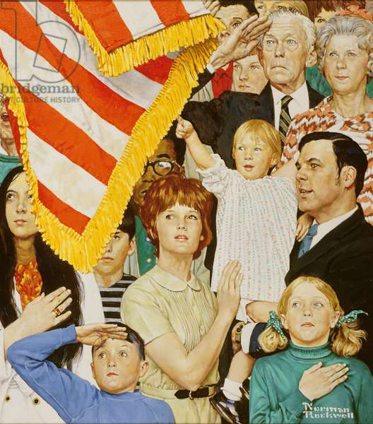 Salute the Flag, 1971 (oil on canvas)