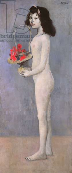 Young Girl with Basket of Flowers, 1905 (oil on canvas)