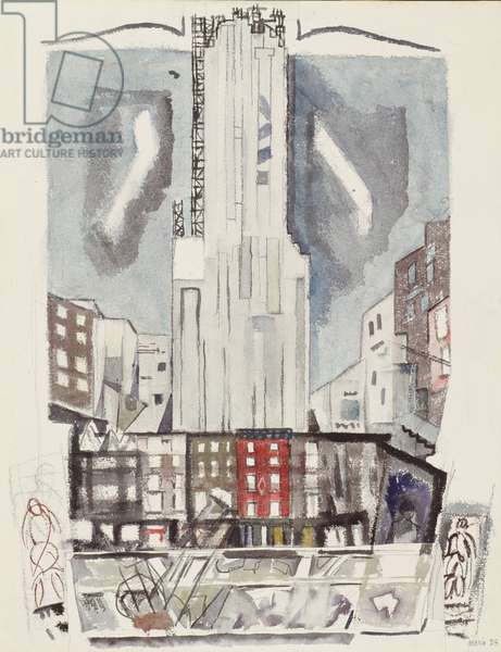 Midtown New York, 1928 (w/c)