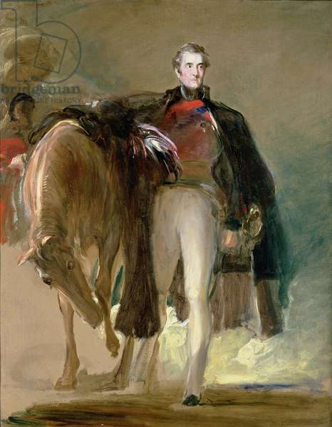 The Duke of Wellington and his Charger `Copenhagen'