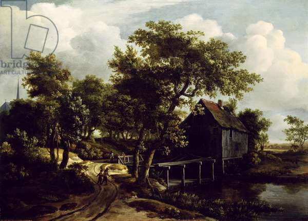 The Water Mill, 1662 (oil on panel)