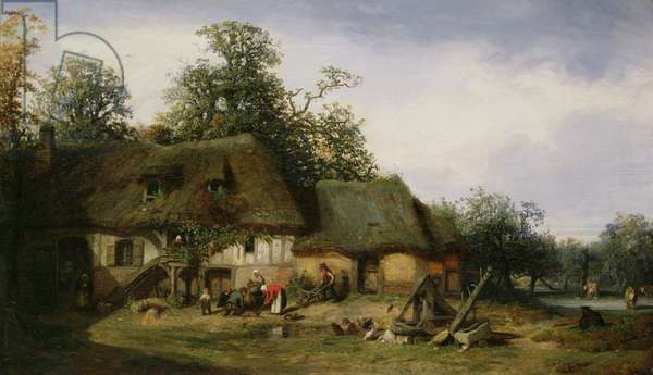 A Farm in Normandy (oil on canvas)