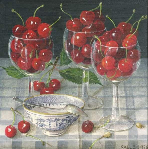 Cherries, 1007 (oil on canvas)