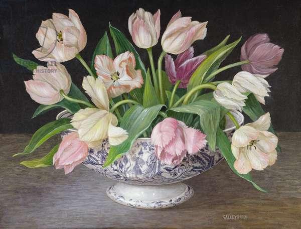Parrot Tulips, 1997 (acrylic on board)