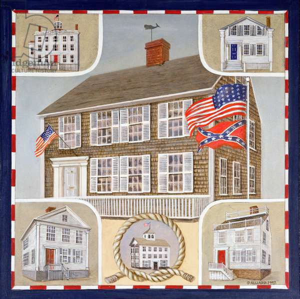 Nantucket Houses, 1997 (oil on canvas)