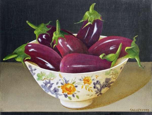 Eggplants, 1993 (acrylic on board)