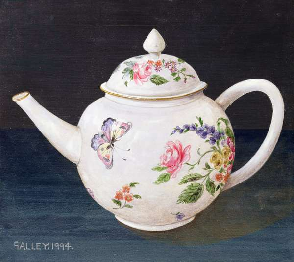 Teapot with butterfly, 1994 (acrylic on board)