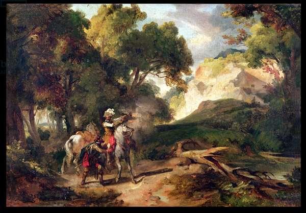 Henri IV (1553-1610) and Captain Michau (oil on canvas)