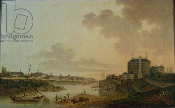 View of the Cotton Factory from the the Motte Sanguin at Orleans, 1825 (oil on canvas)