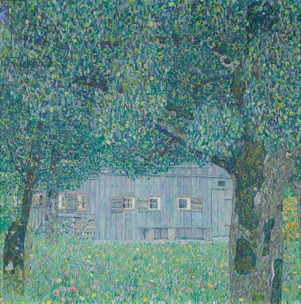 Farmhouse in Upper Austria, 1911 (oil on canvas)