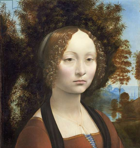 Ginevra de' Benci, c. 1474- 78 (oil on panel)
