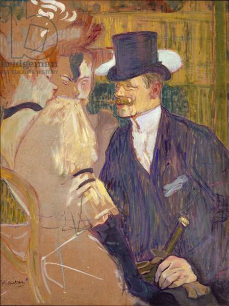The Englishman at the Moulin Rouge, 1892 (oil on cardboard)