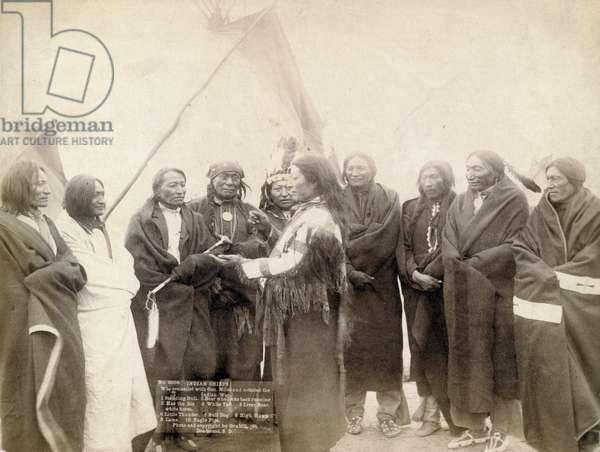 Indian chiefs at Deadwood, South Dakota, 1891 (b/w photo)