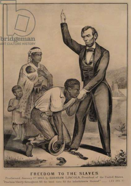 Freedom to the slaves, 1863 (lithograph)