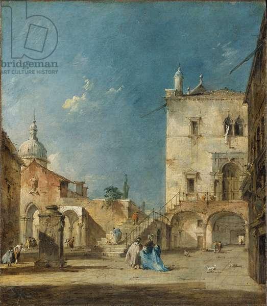 Imaginary View of a Venetian Square or Campo, c.1780