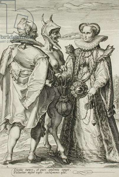 Marriage for Money, Plate 2 of The Marriage Trilogy, c.1594 (engraving)