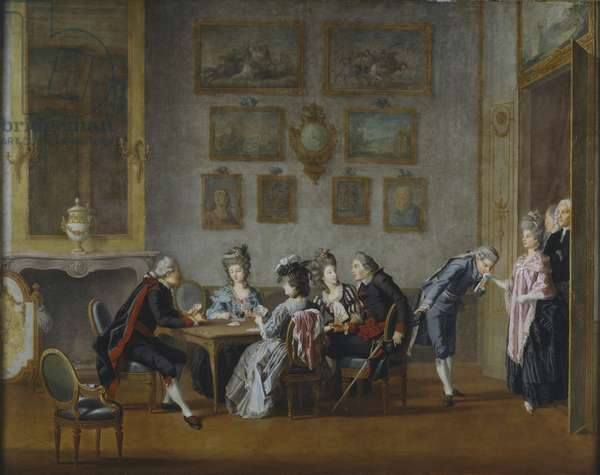 Card-Party in the Home of Elis Schroderheim (oil on canvas)