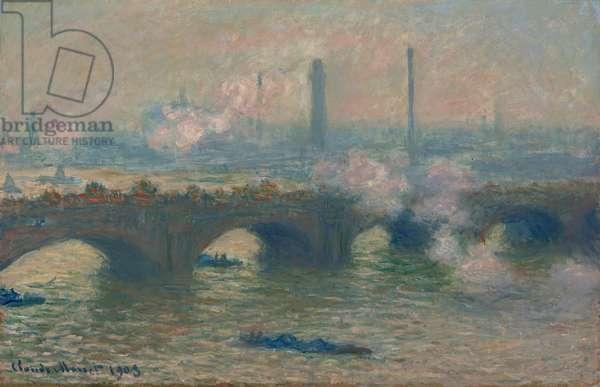 Waterloo Bridge, Gray Day, 1903 (oil on canvas)
