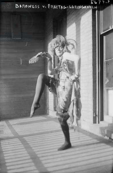 Baroness Von Freytag-Loringhoven, c.1915 (b/w photo)