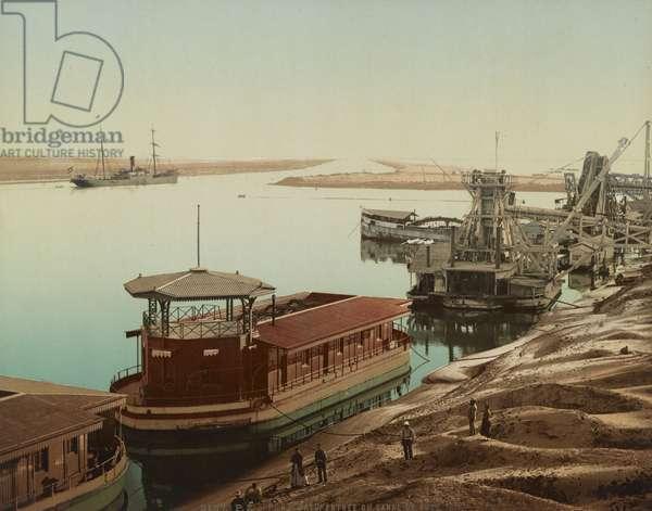 Port Said, entrance to the Suez Canal, c.1900 (colour photochrom)