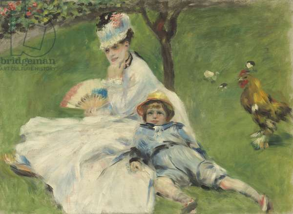 Madame Monet and Her Son, 1874 (oil on canvas)