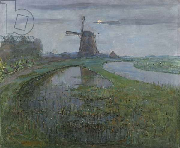 Oostzijdse Mill along the River, c.1903 (oil on canvas)