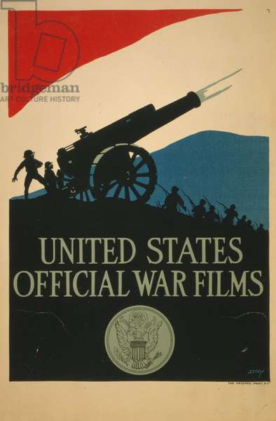 Poster for United States Official War Fillms, 1917 (colour litho)