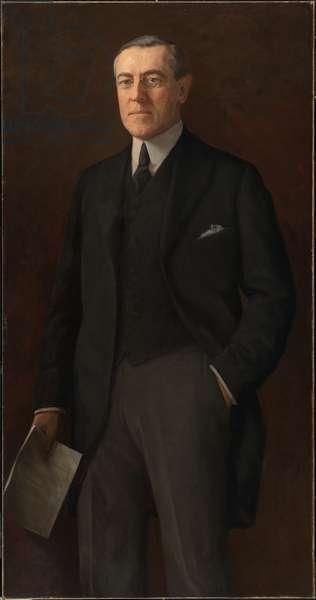 Woodrow Wilson (1856- 1924), 1919 (oil on fabric)
