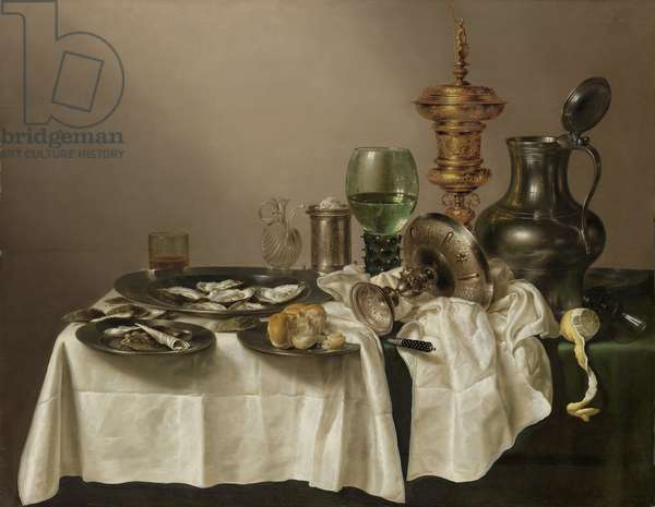 Still life with gilt cup, 1635 (oil on panel)