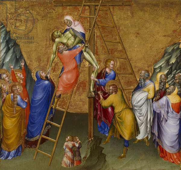 The Descent from the Cross, from the Malavolti altarpiece, 1426 (tempera with gold leaf on panel)
