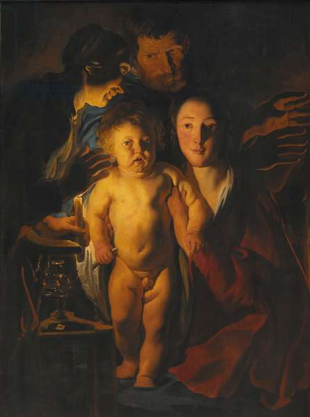 The Holy Family, c.1621-2 (oil on wood)