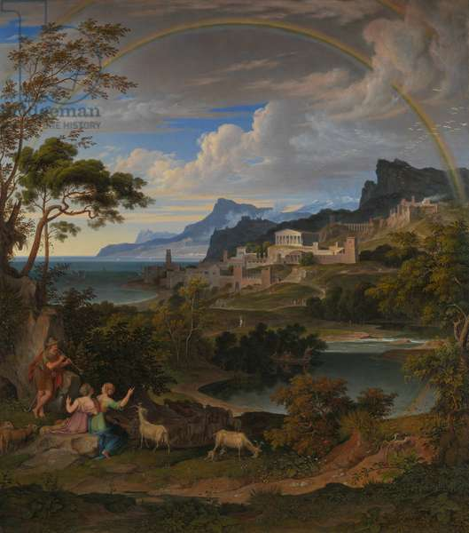 Heroic Landscape with Rainbow, 1824 (oil on canvas)